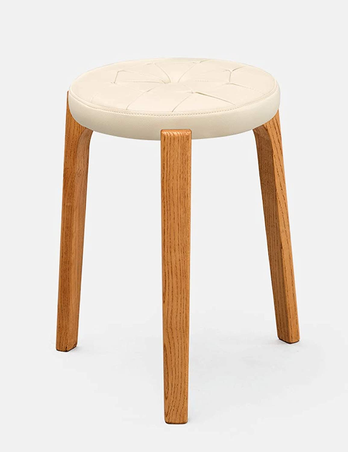 Creative Stool Solid Wood Dining Stool Fabric Dressing Stool Simple Fashion Makeup Stool Bench Home Stool (color   B)