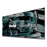 Deselen ScreenPlus 80 Inch HD Movie Projector Screen Rimless, Ambient Light Rejecting, Fabric Metal Particles, Clear Picture (80 Inch)
