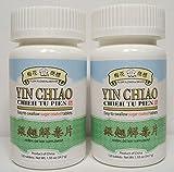 2 Pack! Yin Chiao Chieh Tu Pien, Sugar Coated Tablets, 2x 120 tablets / Yin Qiao Jie Du Pian