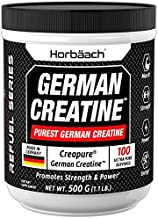 Creapure German Creatine Monohydrate Powder 500g | Promotes Strength and Power | Made in Germany | Vegetarian and Non-GMO Supplement | by Horbaach