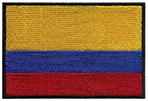 Astonish Parches de Bandera Colombia para Planchar o Bordar, 7,6 cm de Ancho, Parche de Marca, Adhesivo para Ropa, Parches de fútbol