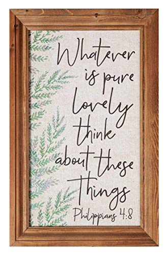 "NoBrands - Targa in legno con scritta ""Always Something Thankful"", stile rustico, bianco, 30,5 x 3,5 cm, in legno"