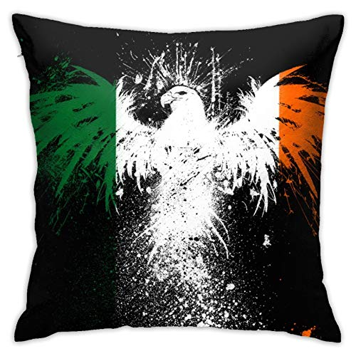 Juego de fundas de almohada de 45 x 45 cm, forma cuadrada, decorativa, funda de cojín para sofá o sofá, diseño de bandera