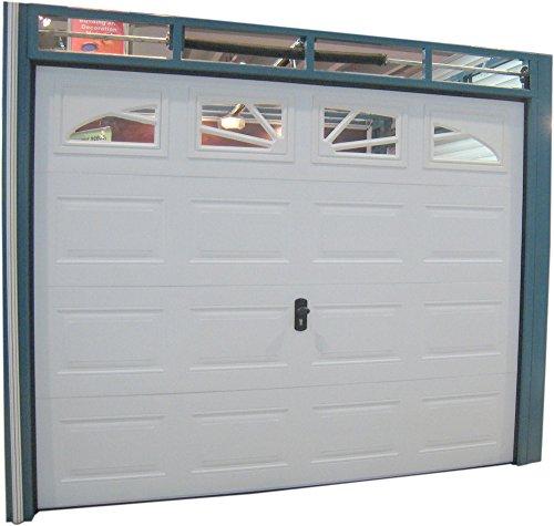 Sektionaltor, Garagentor, Tor, 2540 x 2180 mm RA. , weiß box mit 4 x Glas