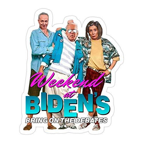 DKISEE (3 PCs/Pack Joe Biden Weekend at BidenS Bring On The Debates Die-Cut Stickers Decals for Laptop Window Car Bumper Helmet Water Bottle 4 inches