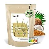 nur.fit BIO Kokosblütenzucker 500g – rein natürlicher Zuckerersatz aus Kokosblüte als Süßungsmittel mit leichtem Karamell-Geschmack – Zuckeralternative in zertifizierter Bioqualität (Badartikel)