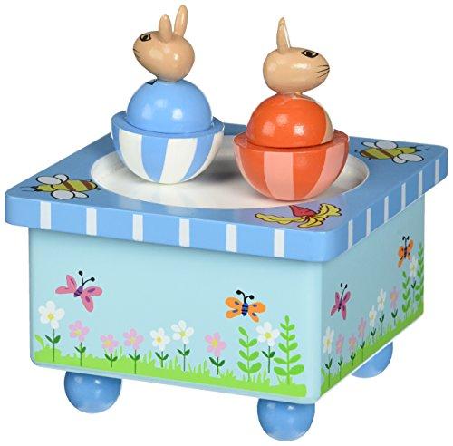 Peter Rabbit - Caja de música de Madera, diseño de árbol Naranja