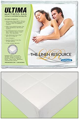 Ultima Waterbed Mattress Pad security Fully Heavy Si sale Super Quilted Fitted