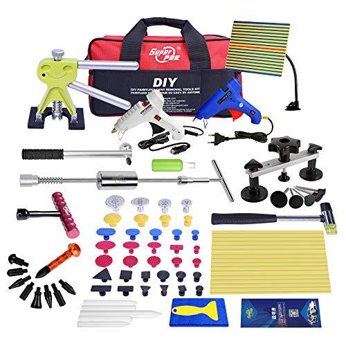 Fly5D Dellen Reparatur Ausbeulwerkzeug Set, Auto Beulen Reparatur Profi vollständiger Satz Mit Dellen Reflektor und 4 Dellen-Werkzeug für Auto Hagel Schäden und Tür Dings