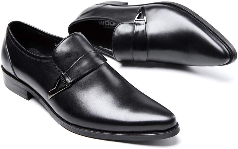KTYXGKL Oxford-Herrenschuhe mit Schnürung aus Gold mit formellen Business-Goldschuhen aus Metall mit Spitzen Schuhen von 37 bis 44 Yards Herren Lederstiefel (Farbe   schwarz, Größe   42 EU)