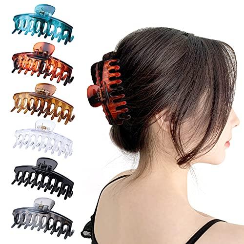 Gukasxi - Mollette per capelli grandi, 10 cm, in acetato di cellulosa e acetato, a banana, antiscivolo, per donne e ragazze