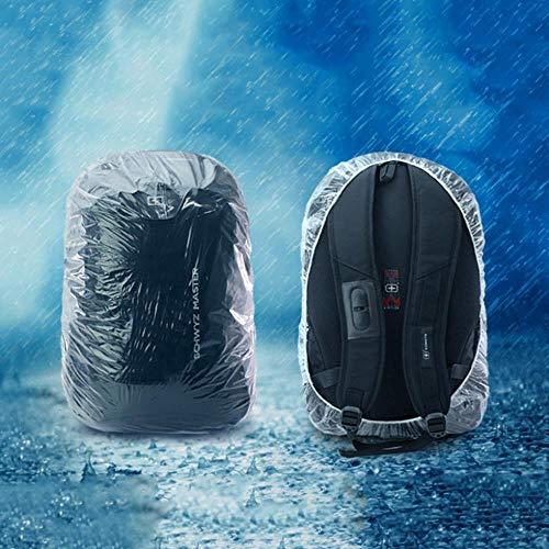 Huien stofdichte hoes voor camping wegwerp rugzakhoes Grote fietstas Bergbeklimmen Outdoor regenhoes Waterdichte regenhoes, L