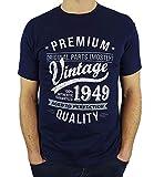 1949 Vintage Year - Aged To Perfection - 70 Ans Anniversaire Homme Cadeaux T-Shirt Marine Bleu L