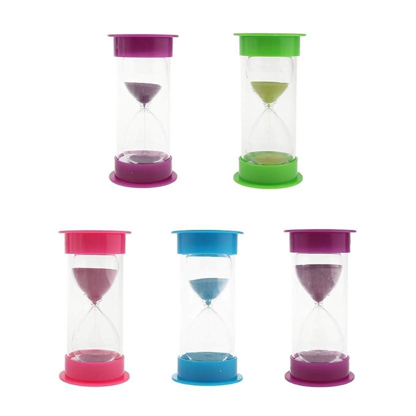 出来事可決ギャザーShiwaki オフィスデスクトップ5?30分用の5つのプラスチック砂時計砂ガラスタイマーのセット