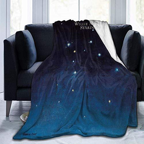 July Willie Nelson Stardust Manta de Lana de Franela Ultra Suave de Microfibra/Manta antiestática para Todas Las Estaciones