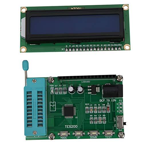 Comprobador de circuito integrado de PCB antioxidante portátil, medidor digital resistente a la corrosión 74 40 Serie 45 Comprobador de circuito integrado de puerta lógica lC, componente elect