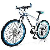 BMDHA Marco De AleacióN De Aluminio MTB,Bicicleta De montaha 26 Pulgadas 24 Velocidades,Bicicleta Freno De Doble Disco Antideslizante Bicicleta Montana Adulto