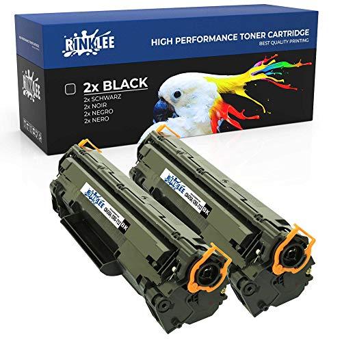 RINKLEE CB435A 712 Cartucho de Toner Compatible para HP Laserjet P1005 P1006 P1007 P1008 P1009 Canon i-SENSYS LBP3010 LBP3050 LBP3100 | Alta Capacidad 1500 Páginas | Negro, 2-Pack