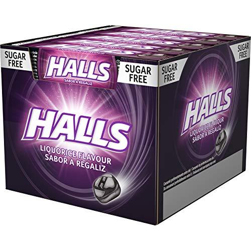 Halls Regaliz - Caramelo duro - Caja con 20 Sticks de 32 g