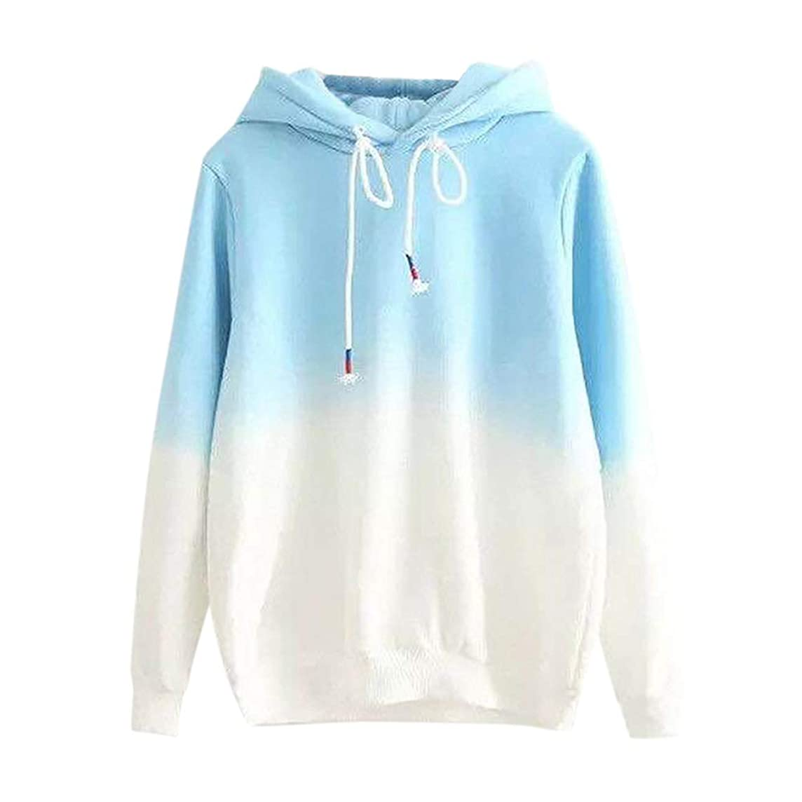 KIKOY Long Sleeve Women Hoodie Print Patchwork Sweatshirt Pullover Tops Blouse