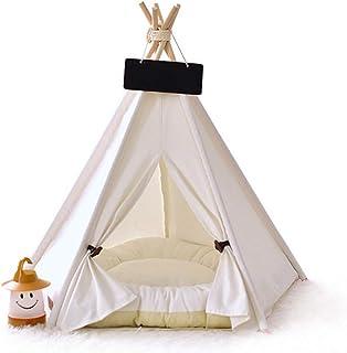 Husdjur tipi hund tipi tält hem och tält med spets för hund eller husdjur, hundtält små hundar, grotta hund, katttält säll...