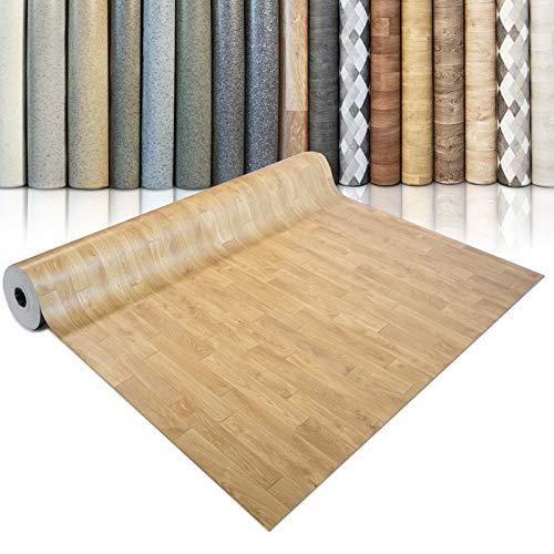 CV Bodenbelag Mombasa - extra abriebfester PVC Bodenbelag (geschäumt) - Eiche Natur - edle Holzoptik - Oberfläche strukturiert - Meterware (100x100 cm)
