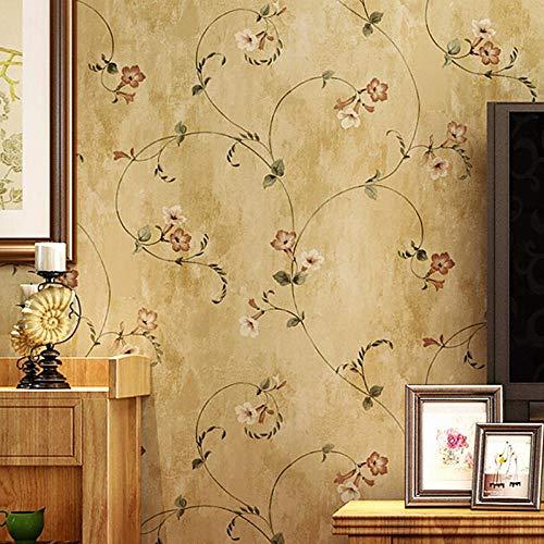 Vintage Papel Pintado Pared 3D Tela No Tejida Crochet Pastoral Dormitorio Cocina Salon Pared De Fondo Decoración Hotel Tienda De Ropa Pegamento 0.53 * 9.5 M