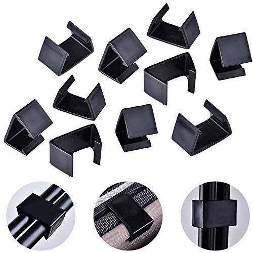QYC 10 Pcs of Outdoor Patio Wicker Furniture Clips, Alignment Sofa Rattan Chair Sofa Fasteners Clip Sectional Connector, Connect The Sectional or Module Outdoor Couch Patio Furniture, Black