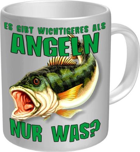 Original RAHMENLOS® Kaffeebecher für den aktiven Fischer: Es gibt Wichtigeres als Angeln...Im Geschenkkarton 2605