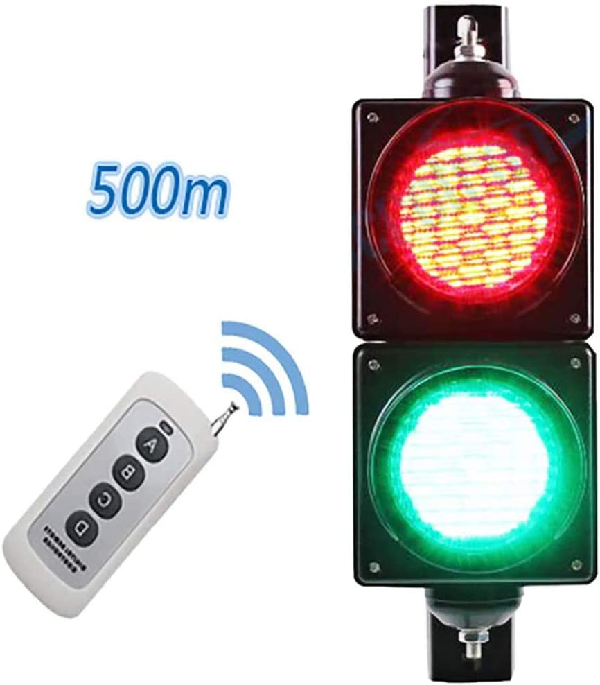 Giardino Traffic Light 12-24V//220V with Remote Control Warning Light Based Red//Green Stop and Go Light Car and Pedestrian Road Signs Traffic Light for Indoor and Outdoor