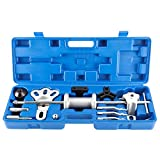 8MILELAKE 9 Way Slide Hammer Puller Axle Front Rear Wheel Bearing Dent Hub Gear Puller Remover Set