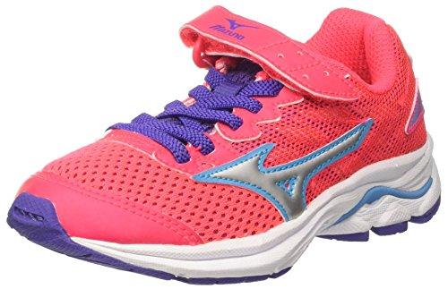 Mizuno Wave Rider 20 Jr V, Zapatillas de Running para Niñas, Rosa (Diva Pink/Silver/Liberty), 28.5 EU
