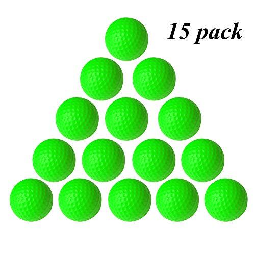 VUXYMCY Golfbälle für Innen- und Außenbereich, elastisch, PU-Schaumstoff, grün