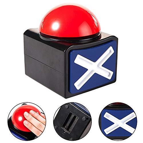 Mokia Game Answer Buzzer, gioco Buzzer con luci e suono Trivia Quiz Got Talent Buzzer, Buzzer pulsanti per Game Show, Red Game Buzzer
