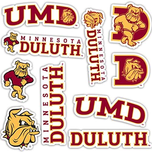 University of Minnesota Duluth UMD Bulldogs Sticker Vinyl Decal Laptop Water Bottle Car Scrapbook (Type 2 Sheet)