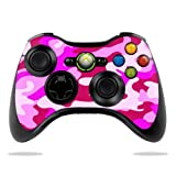 MightySkins Skin Compatible with Microsoft Xbox 360 Controller - Pink Camo | Protective, Durable, and Unique Vinyl Decal wrap Cover | Easy to Apply, Remove, and Change Styles | Made in The USA