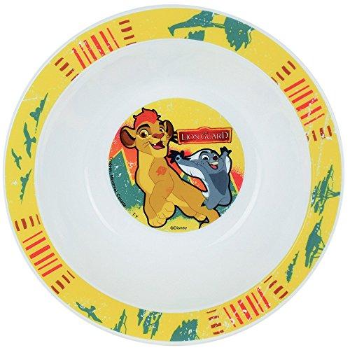 FUN HOUSE 005496 Disney Roi Lion Bol Micro-ondable pour Enfant, Polypropylène, Jaune, 16 x 16 x 4 cm