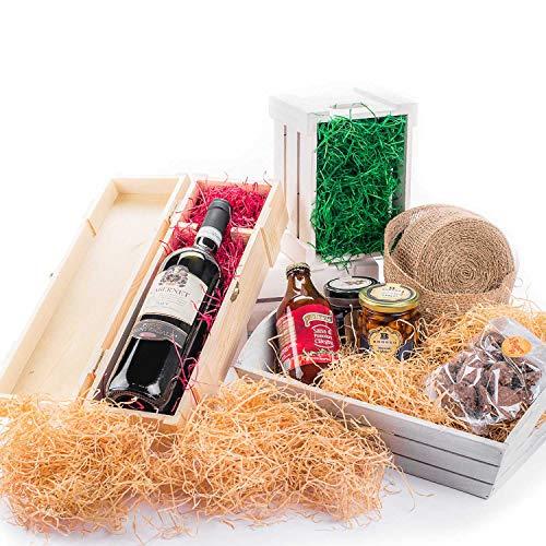 IMBALLAGGI 2000 - TRUCIOLO Legno Naturale Paglia per CESTI Pasqua PASQUALI Natalizi Natale IMBALLO RIEMPIMENTO Regali Regalo (2.5 kg, Paglia)