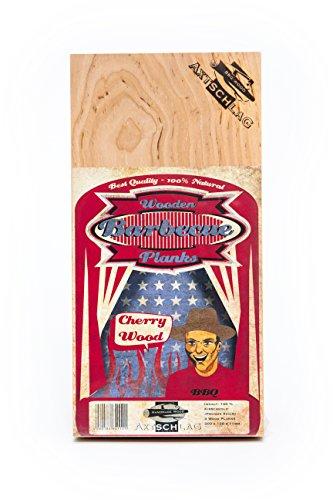 Axtschlag Barbecueplanken, kersenhout, behoedzaam grillen en garen op natuurlijk hout, afmetingen 300 x 150 x 11 mm, verpakking van 3 stuks