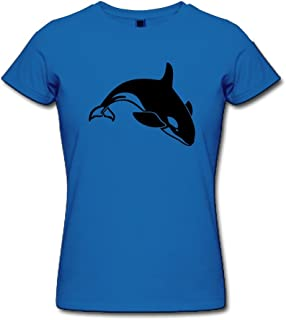 HD-Print Women's Tshirt Jumping Killer Whale Pink