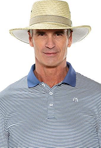 Coolibar UPF 50+ Men's Eagle Golf Gambler - Sun Protective (Large- Natural)