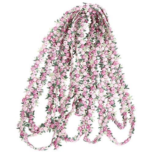 ULTNICE 4. 5M Florale Spitzenborte Stickerei Rose Blume Applikation Nähen DIY Band Handwerk Haarschmuck für Kleid Hochzeitsfeier Rosa 1. 2Cm