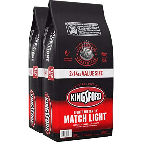 Kingsford Match Light Instant Charcoal Briquettes, BBQ Charcoal for Grilling – 14 Pounds