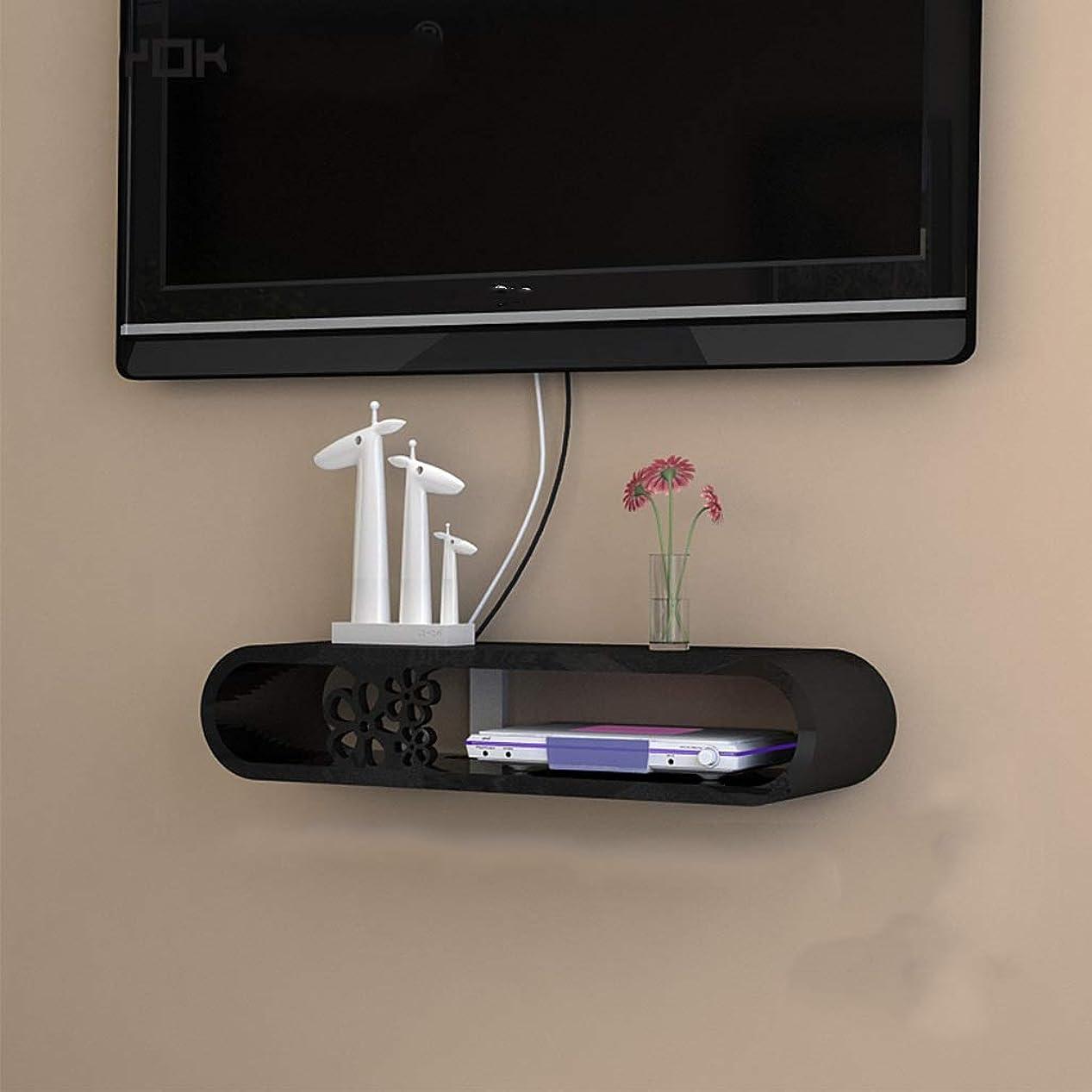 衝突靴下含む現代壁は、WiFiルーター、TVボックスセットトップボックススピーカーストリーミングデバイスのゲームコンソールの安全フィレット用スタンド/ブラケット/スタンドホルダーメディアコンソール浮動テレビシェルフテレビをマウント (Size : B 70cm)