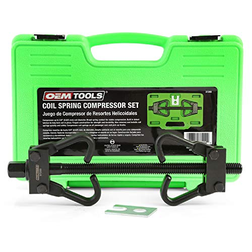 OEMTOOLS 37200 Coil Spring Compressor, Compress Coil Springs on All Passenger Trucks & Autos, Safety Tool for Installing & Removing Coil Springs, Fits Most Macpherson Strut Springs & Coil Springs