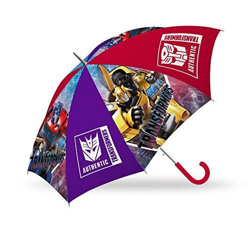 Kids Regenschirm 40 cm manuell von Transformers Klassischer Regenschirm, 80 cm, Mehrfarbig