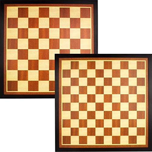 Abbey Game 49CG Scacchiera per scacchi e dame in legno marrone/ecru