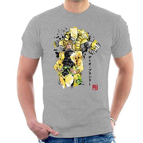 Cloud City 7 Yellow Jojos Bizarre Adventure Za Warudo Sumie Men's T-Shirt