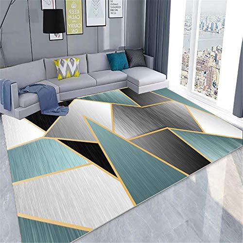 Kunsen El patrón geométrico de la Alfombra de la Sala es Resistente a Las Manchas, a la decoloración y Suave alfombras de habitacion Alfombra Dormitorio Juvenil Alfombra para niños