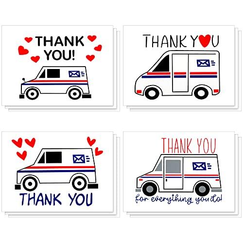 12 Pieces Vinyl Mailbox Decals Thank You Mailbox Decal Truck Mailbox Stickers Car Mailbox Decals for Home Car Outdoors